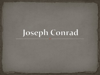 Joseph Conrad Biographical Introduction