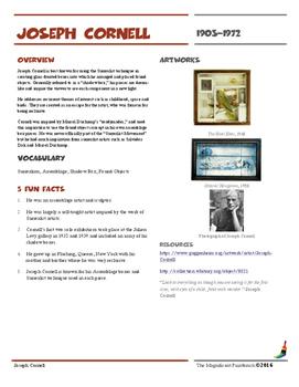 Joseph Cornell Informational Worksheet