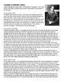 Joseph Goebbels' Diary: WWII Holocaust Primary Source Worksheet