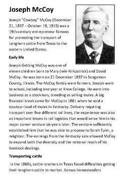Joseph McCoy Handout