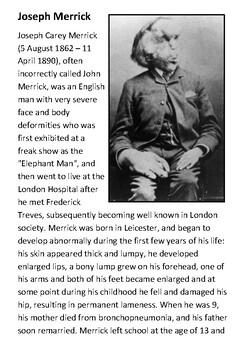 Joseph Merrick  - The Elephant Man Handout