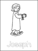 Joseph Printable Color Sheets. Preschool Bible Study Curriculum.