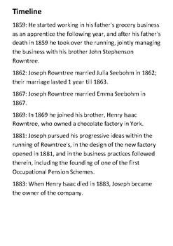 Joseph Rowntree Handout