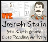 Joseph Stalin - 5th & 6th Grade Close Reading Activity