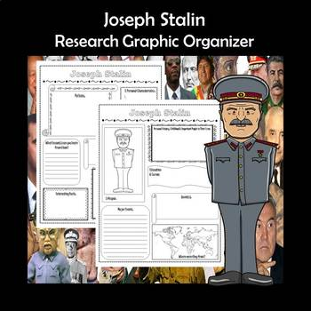 Joseph Stalin Biography Research Graphic Organizer