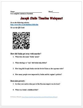 Joseph Stalin Webquest