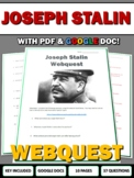 Joseph Stalin - Webquest with Key (World War Two) WWII