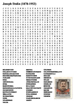 Joseph Stalin Word Search