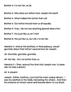 Joseph and his Coat / Brothers Activity Packet (Readers' Theater)