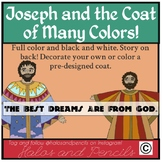 Joseph and the Coat of Many Colors Coloring Craft Packet