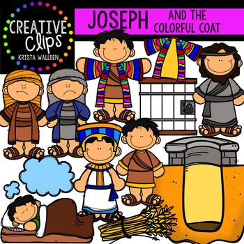 Joseph's Coat of Many Colors {Creative Clips Digital Clipart}