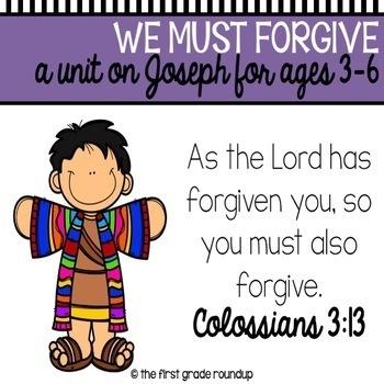 Joseph's Colorful Coat Bible Unit (Forgiveness)