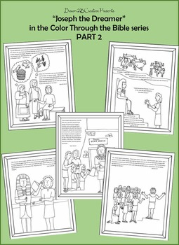Joseph the Dreamer Coloring pages with scripture- PART 2