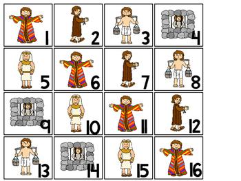 Joseph themed Calendar pieces. Preschool-KDG Bible bulletin board.