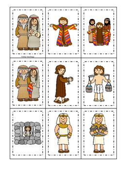 Joseph themed Memory Match printable game. Preschool Bible Study Cu
