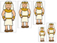 Joseph themed Size Sequence printable game. Preschool Bibl