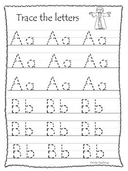Joseph themed Trace the Alphabet. Preschool Bible Study Curricul