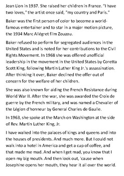 Josephine Baker Handout