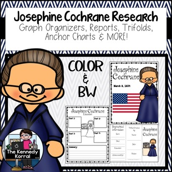 Josephine Cochrane: Biography Research Bundle {Report, Trifold, & MORE!}