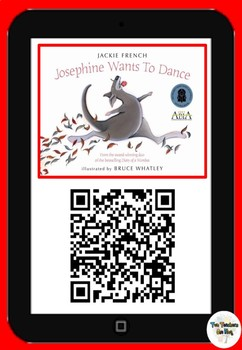 Josephine Wants to Dance- QR Code Comprehension Pack
