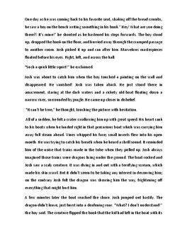 Creative Writing. Josh The Traveler. ESL