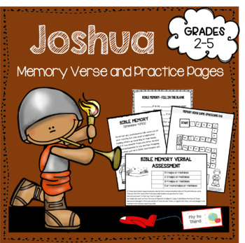 Joshua 1: 7-9 Memory verse activities and assessments