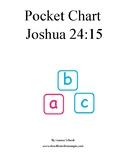 Joshua 24:15 scripture for pocket charts