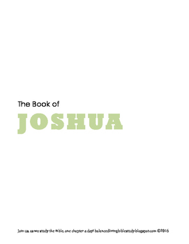 Joshua WORD Guide