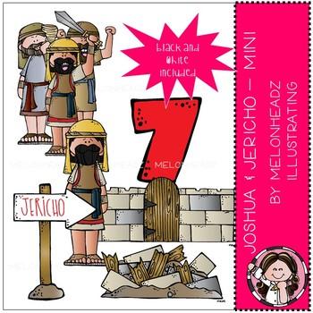 Joshua and Jericho clip art - Bible - Mini - by Melonheadz