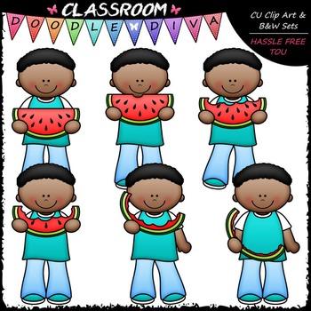 Josiah Eats Watermelon Clip Art - Sequence Clip Art & B&W Set