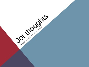 Jot Thoughts Activity - powerpoint