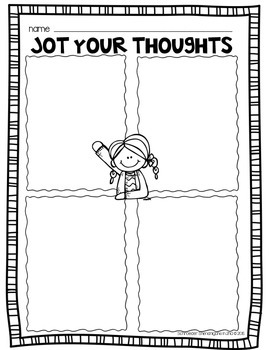 Jot Your Thoughts FREEBIE