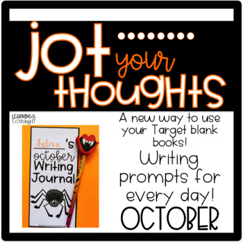 Jot Your Thoughts-Journal Prompts for Blank Books October