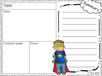 Jot this Down {Superhero Note taking skills}