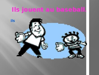 Jouer French verb power point