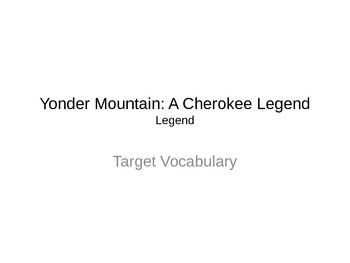 Jouneys Lesson 13 Yonder Mountain Vocabulary PowerPoint Presentation