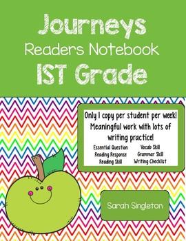 Jounreys 1st grade Interactive Notebook