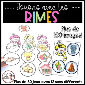 FRENCH Rhyming Activity - Jouons avec les rimes - Conscien