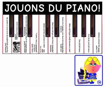"Les verbes DR. & MRS. VAN DER TRAMP (format: ""Jouons du piano"") French"