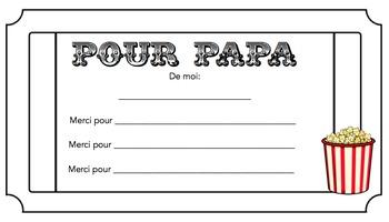 Jour de Mere/Jour de Pere (Mothers/Fathers day)