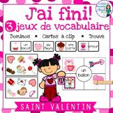 La Saint Valentin: 3 Valentine Themed Vocabulary Games in French