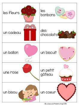 La Saint Valentin:  Valentine Themed Game in French - La tapette à mouches