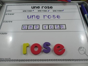 La Saint Valentin:  Valentine Themed Word Work Activity Mats in French