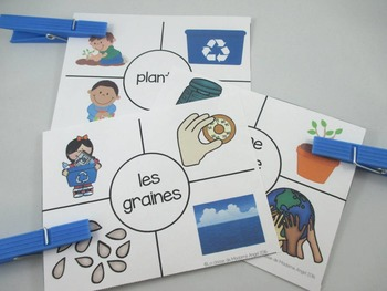 Jour de la Terre:  3 Earth Day Themed Vocabulary Games in French