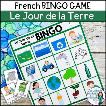 Jour de la Terre:  Earth Day Themed Bingo Game in French