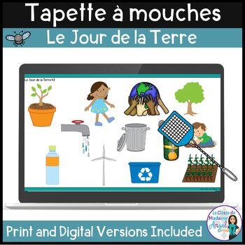 Jour de la Terre:  Earth Day Themed Game in French - La ta