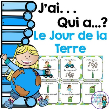 Jour de la Terre:  Earth Day Themed Vocabulary Game in Fre