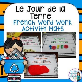 Jour de la Terre:  Earth Day Themed Word Work Activity Mat