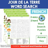 Jour de la Terre French Earth Day Word Search (wordsearch) Activity