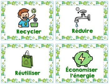 Jour de la Terre French Earth Day Activities Scavenger Hunt Game